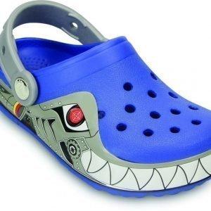 Crocs Pistokkaat Crocband Lights Robo Shark Sea Blue/Silver