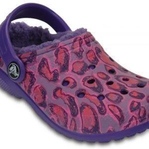 Crocs Sandaalit Lapset Ruskea Classic Fuzz Lined Graphic