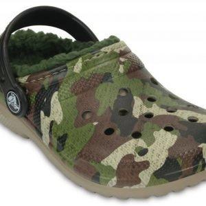 Crocs Sandaalit Lapset Vihreä Classic Fuzz Lined Graphic