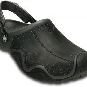 Crocs Sandaalit Miehille Harmaa Swiftwater Leather