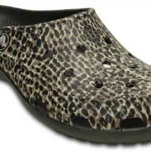 Crocs Sandaalit Naisille Musta Freesail Animal Print