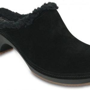 Crocs Sandaalit Naisille Musta Sarah Fuzz Lined