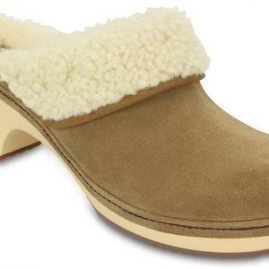 Crocs Sandaalit Naisille Ruskea Sarah Luxe Shearling Lined