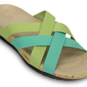 Crocs Sandaalit Naisille Vihreä Edie Stretch