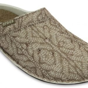 Crocs Slipper Ruskea Classic Cable Knit Slipper