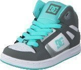 Dc Shoes Dc Kids Rebound Shoe Grey/Blue/White