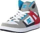 Dc Shoes Dc Kids Rebound Shoe Grey/Grey/Red
