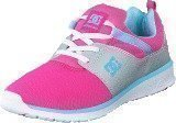 Dc Shoes Heathrow Pink with Silver