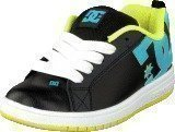 Dc Shoes Kids Court Graffik Shoe Black/Aqua