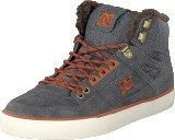 Dc Shoes Spartan High Wc Wnt Shoe Grey/Dark Red