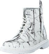 Dr Martens Pascal Mrbl White Patent Marble