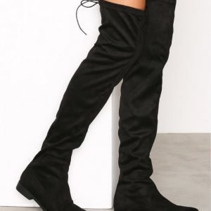 Duffy High Over Knee Boot Ylipolvensaappaat Musta