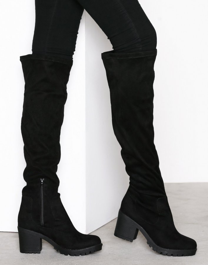 Duffy Knee High Boot Ylipolvensaappaat Musta