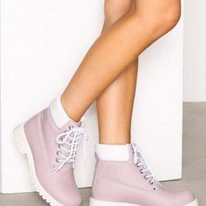 Duffy Warm Boot Keinonahkakengät Light Pink