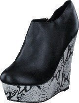 Fashion By C Snake wedge Black/white