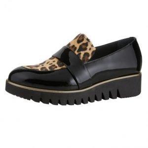 Filipe Shoes Kävelykengät Musta / Leopardi