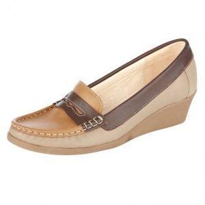 Filipe Shoes Kiilaloaferit Harmaanruskea Kameli