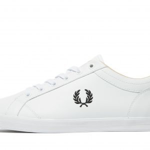 Fred Perry Baseline Leather Valkoinen