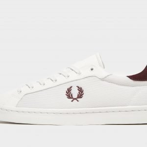 Fred Perry Lawn Leather Valkoinen