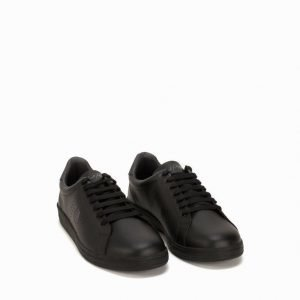 Fred Perry Parkside leather Tennarit Musta
