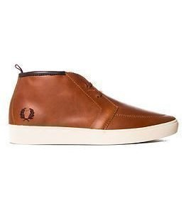 Fred Perry Shields Mid Leather Tan