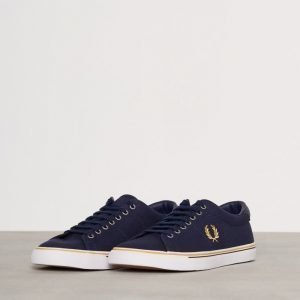 Fred Perry Underspin Canvas Tennarit Carbon Blue