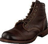 Frye Logan Cap Toe Dark Brown