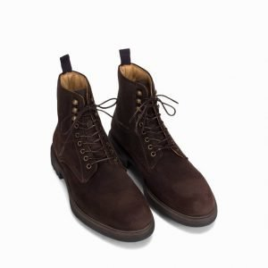 Gant Nobel Mid Lace Boot Varsikengät Dark Brown