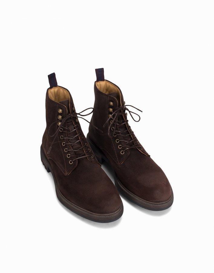 Gant Nobel Mid Lace Boot Varsikengät Dark Brown