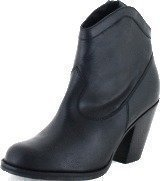 Gardenia Short Boot 2962 Crazy Horse Black