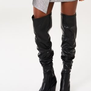 Gina Tricot Lavaldo Thigh High Heel Boots Kengät