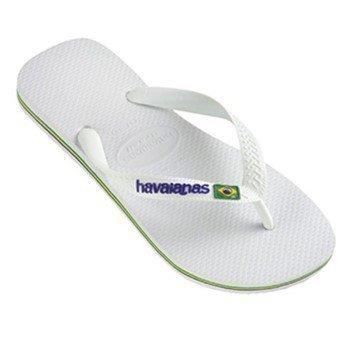 Havaianas Brasil Logo Flip Flop White