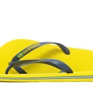 Havaianas Brazil Logo Flip Flops Keltainen