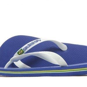 Havaianas Brazil Logo Flip Flops Marine Blue