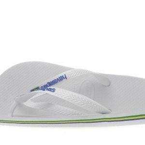 Havaianas Brazil Logo Flip Flops Valkoinen