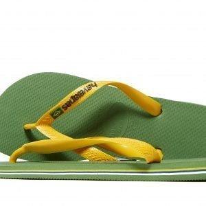 Havaianas Brazil Logo Flip Flops Vihreä