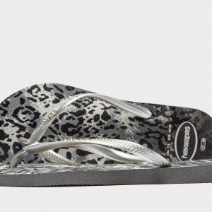 Havaianas Slim Animal Print Sandaalit Harmaa