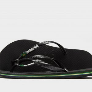 Havaianas Slim Brasil Sandaalit Musta