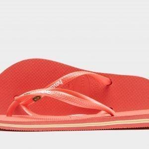 Havaianas Slim Brasil Varvassandaalit Vaaleanpunainen