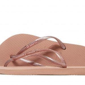 Havaianas Slim Metallic Sandaalit Pink Rose