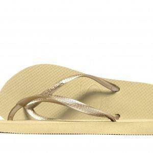 Havaianas Slim Sandaalit Sand / Gold