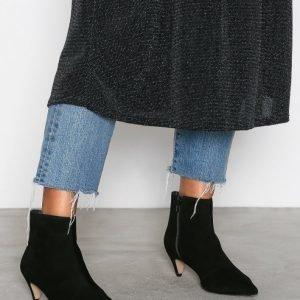 Henry Kole Alessa Ankle Boots Mokkanahkasaapikkaat Musta