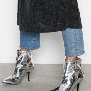 Henry Kole Zoe Ankle Boots Kiiltonahkasaapikkaat Hopea