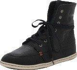 Hub Footwear Chess Leather/Lumberjack Black