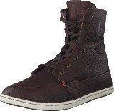 Hub Footwear Chess Leather/Lumberjack Dark Brown