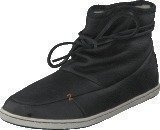 Hub Footwear Queen Leather/Wool Black