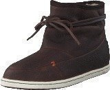 Hub Footwear Queen Leather/Wool Dark Brown