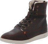 Hub Footwear Tin Leather/Wool Dark Brown