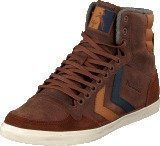Hummel Hummel Slim Stadil Oiled High Friar Brown