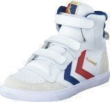 Hummel Hummel stadil JR high White/Blue/Red/Gum